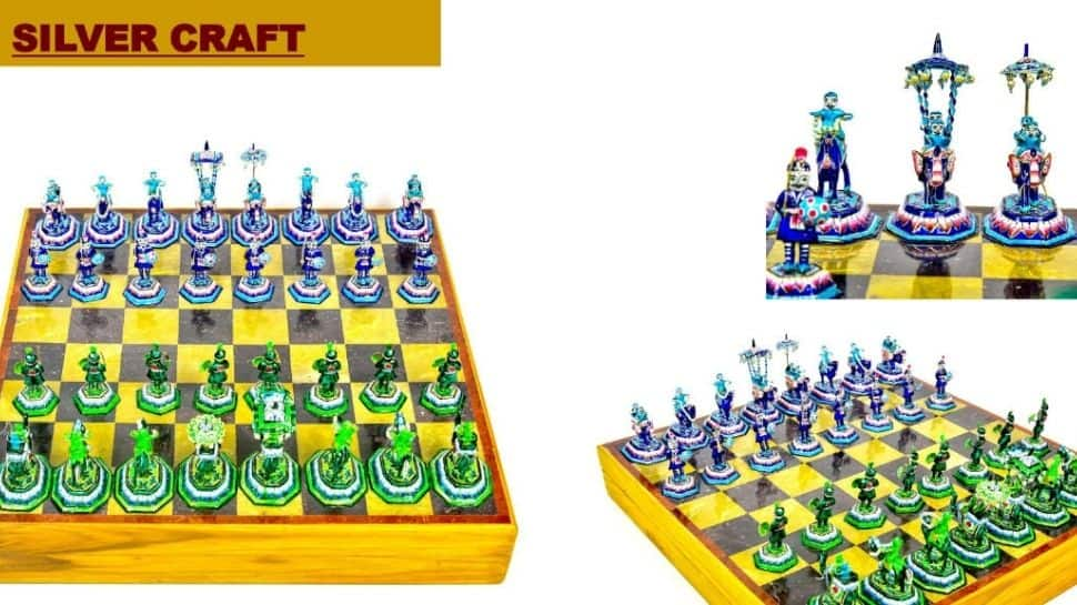 A Gulabi Meenakari Chess Set for US Vice President