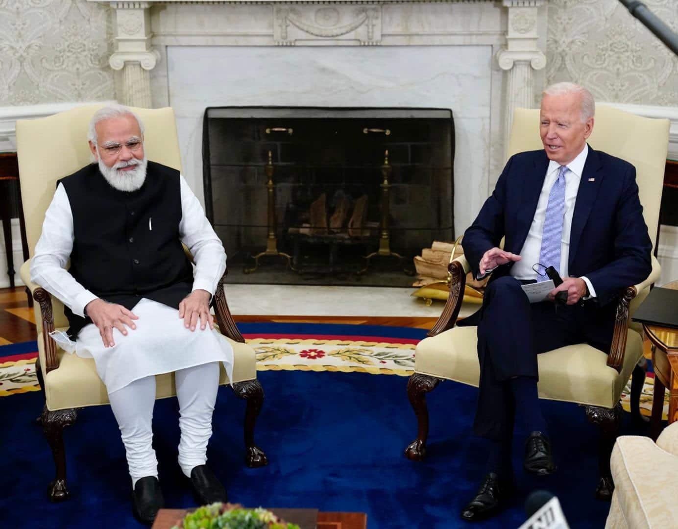 PM Narendra Modi meets US President Joe Biden in Washington