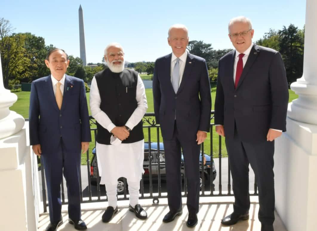 PM Narendra Modi, US President Joe Biden, Japanese PM Yoshihide Suga, Australian PM Scott Morrison at QUAD Summit in Washington