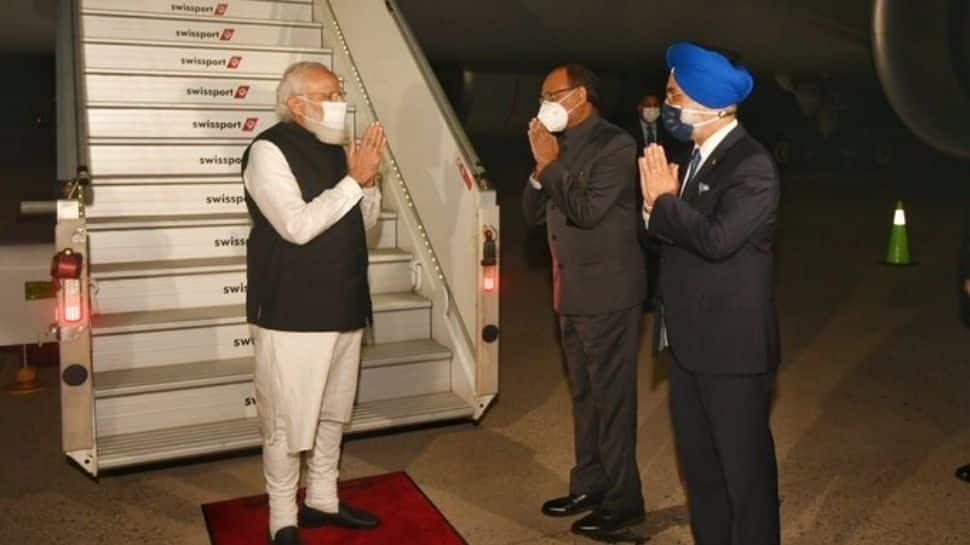 PM Narendra Modi arrives in New York to address 76th UNGA session thumbnail