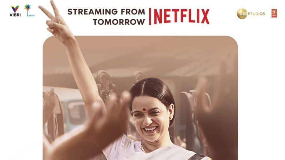Kangana Ranaut starrer 'Thalaivii' now streaming on Netflix! thumbnail