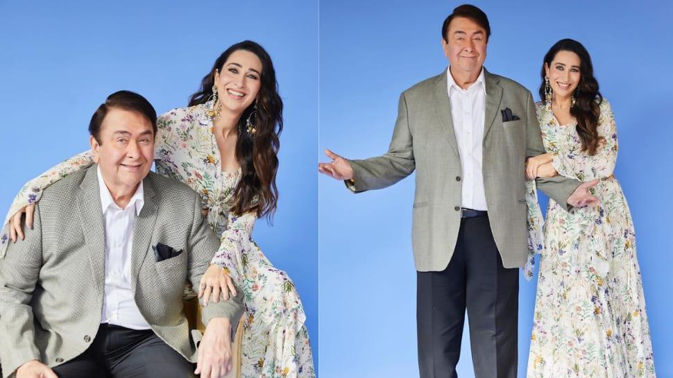 Karisma Kapoor is embarrassed as Randhir Kapoor recounts doing romantic scenes on The Kapil Sharma Show