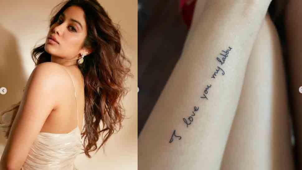 Janhvi Kapoor gets a tattoo of mom Sridevi's handwritten note, see photo
