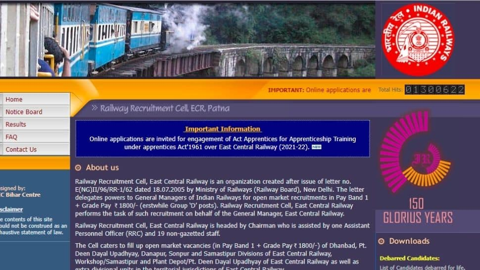 East Central Railway Recruitment 2021: Vacancy for 2206 posts, go to rrcecr.gov.in