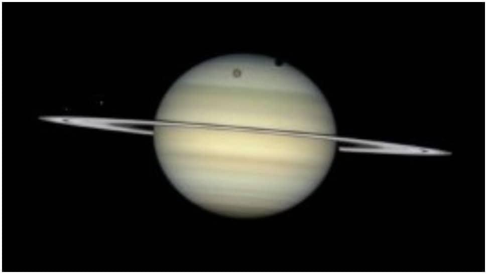 Moon parade at Saturn; NASA shares astonishing visuals by Hubble-- Watch thumbnail