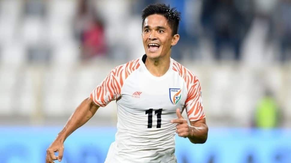 Sunil Chhetri equals THIS record of Pele after scoring his 77th goal for India thumbnail