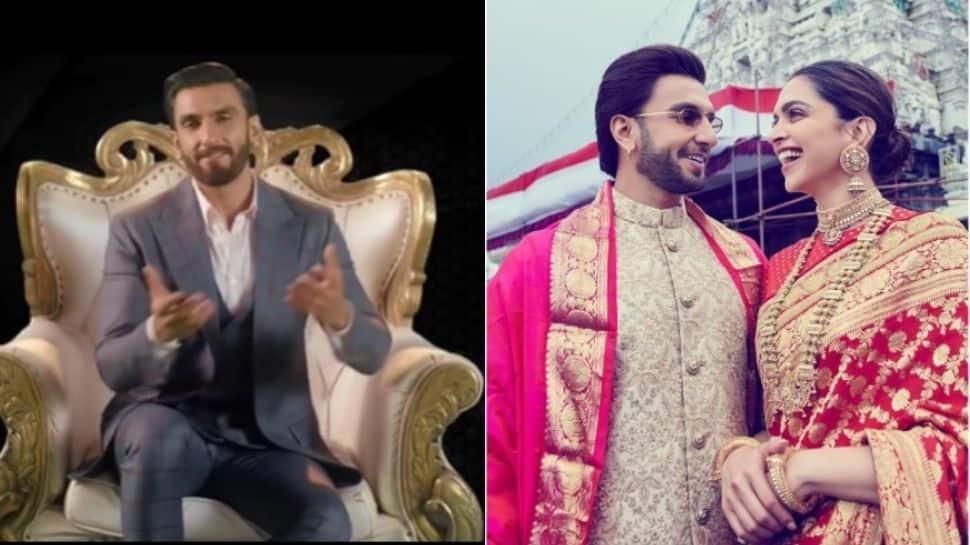 Ranveer Singh skips a 'lappad' from Deepika Padukone - Watch! thumbnail