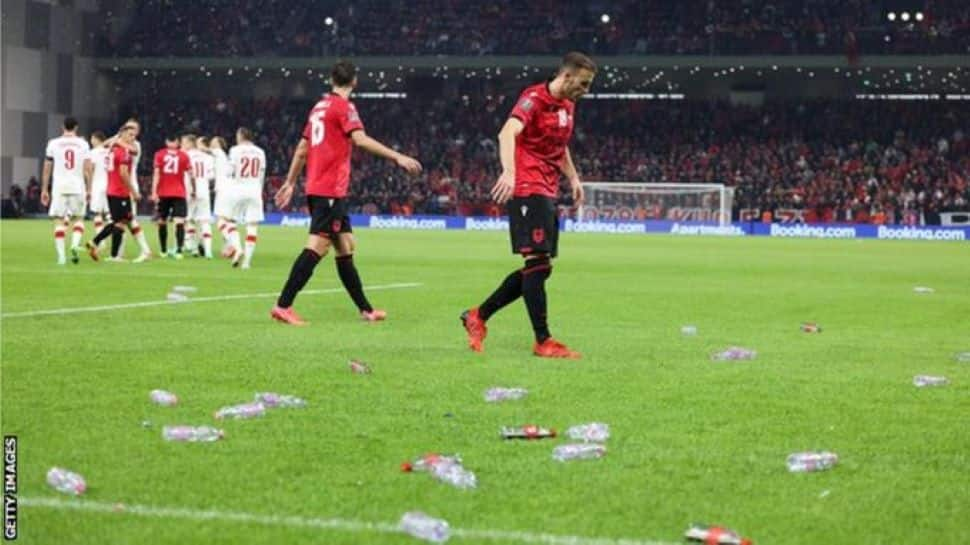 2022 World Cup Qualifiers: Hungary fans clash in England, Poland walk off pitch