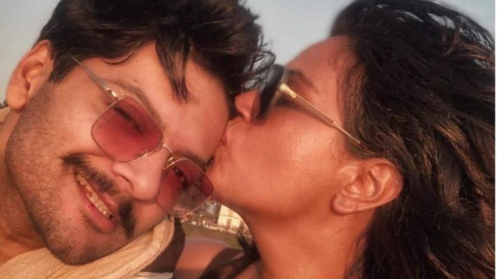 Richa Chadha surprises beau Ali Fazal on his birthday, visits actor on his film's set