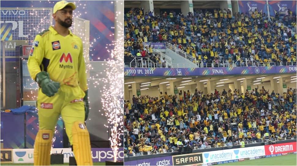 'Feels like Chepauk': CSK skipper MS Dhoni thanks fans after winning IPL 2021 at Dubai International Stadium thumbnail