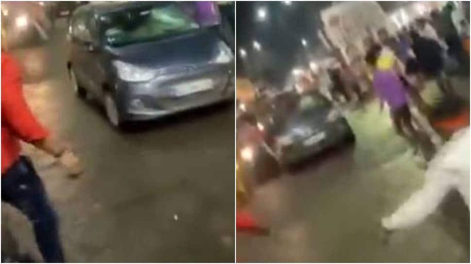 After Chhattisgarh, speeding car mows down devotees at Durga procession in MP - Watch thumbnail
