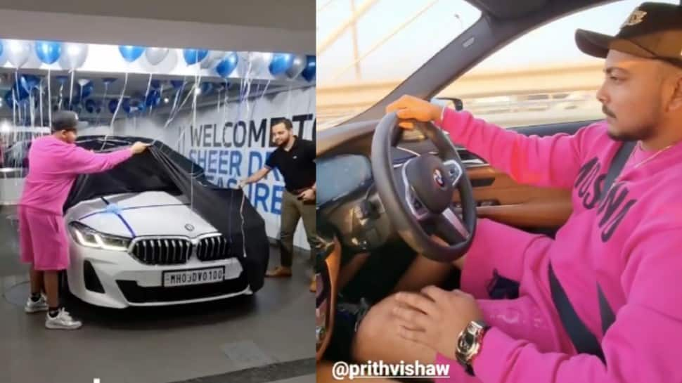 DC opener Prithvi Shaw gifts himself a swanky BMW car after IPL 2021, pics go VIRAL thumbnail