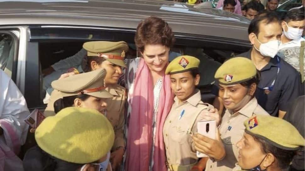 Heard Yogi Adityanath is upset with this picture: Priyanka Gandhi Vadra on viral selfie with Uttar Pradesh cops thumbnail