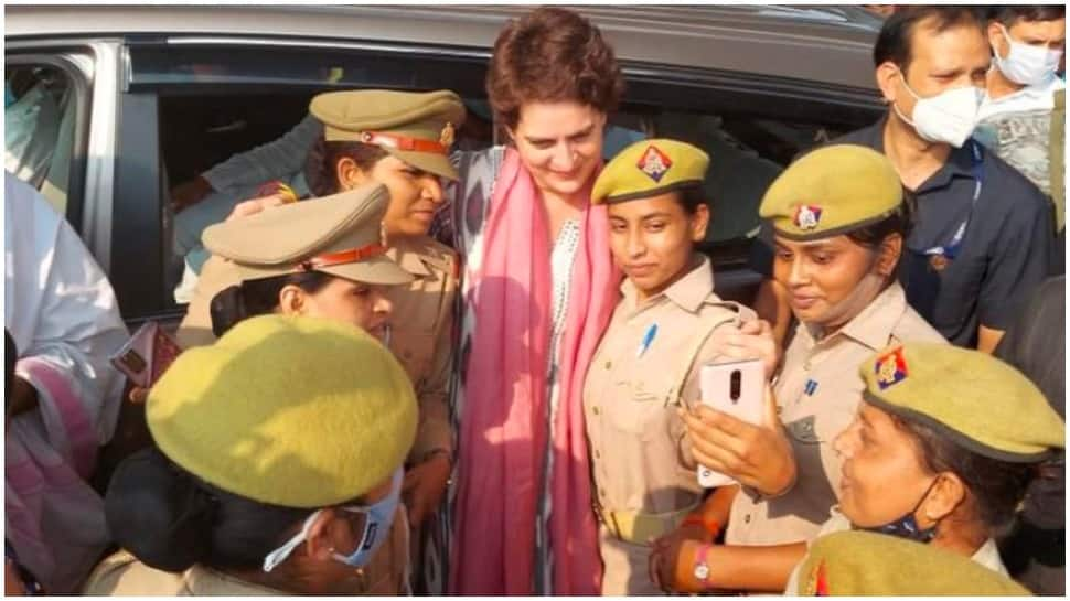 Cops who clicked selfies with Priyanka Gandhi will face action, says Lucknow Police Commissioner thumbnail