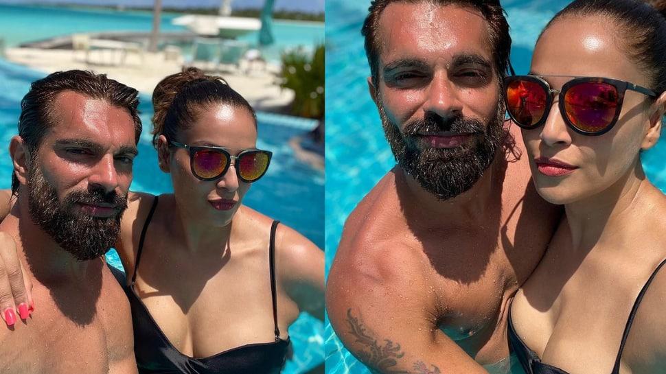 Bipasha Basu and Karan Singh Grover mushy love inside a pool is too hot to handle thumbnail
