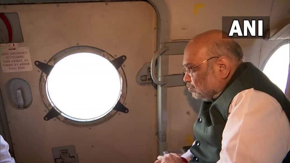 Amit Shah conducts aerial survey of rain-ravaged areas of Uttarakhand thumbnail