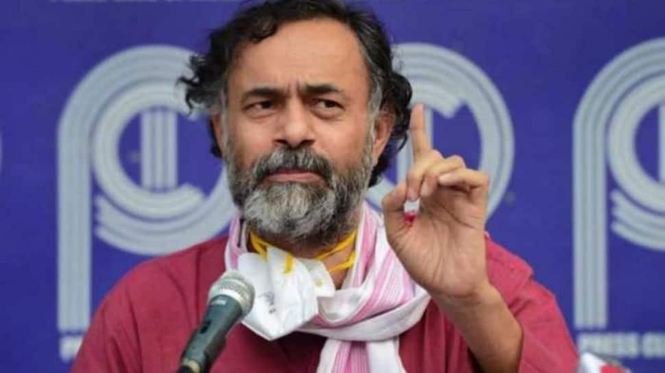 Lakhimpur Kheri violence: BKU suspends Yogendra Yadav for visiting deceased BJP worker's kin thumbnail