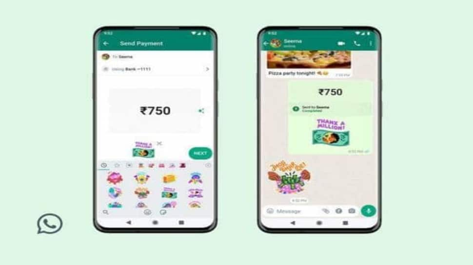 WhatsApp unveils in-app stickers for payments: Here's how to use it thumbnail