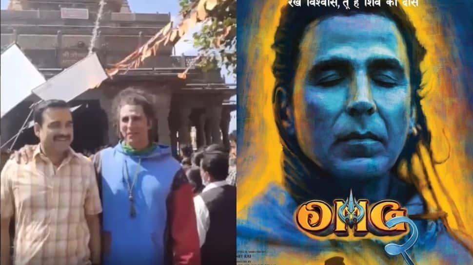 Akshay Kumar and Pankaj Tripathi seek Lord Shiva's blessings as they begin shooting for 'OMG 2'