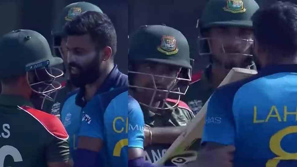 Lahiru Kumara and Liton Das engage in war of words during Bangladesh vs Sri Lanka T20 World Cup clash, WATCH thumbnail