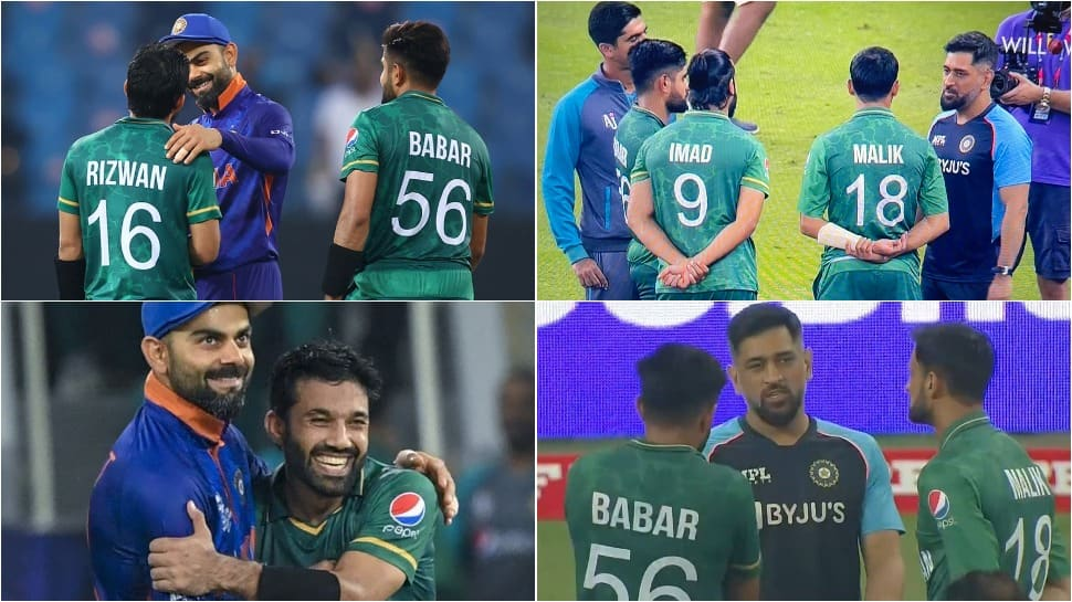 Virat Kohli hugs, MS Dhoni chats with Pakistan players, 'spirit of Cricket' prevails, say netizens after T20 World Cup clash thumbnail