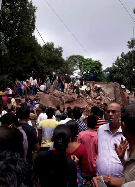 Four-storey building collapsed