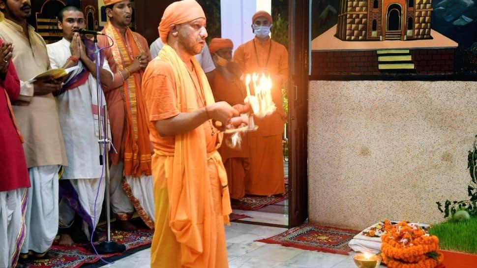 Yogi Adityanath performs puja