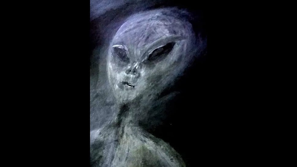 Woman's representation of the alien she has seen