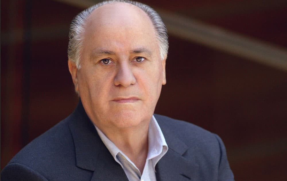4. Amancio Ortega/Net Worth: $64.5 billion/Source of wealth: Zara