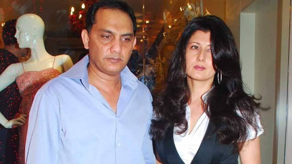 Former India captain Mohammad Azharuddin and ex-wife Sangeeta Bijlani. (Source: Twitter)