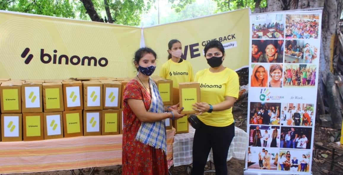 Binomo and Lakshyam organized a charity event for those in need in Delhi and Jharkhand thumbnail