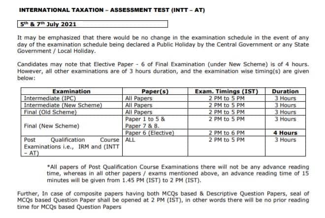 Chartered-Accountant-Examinations-2021