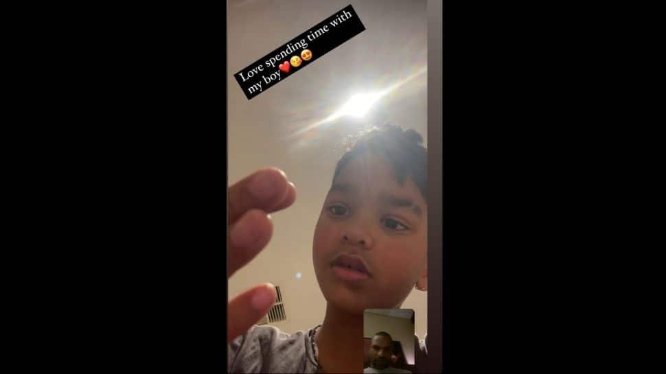 Shikhar Dhawan's Instagram story with son Zorawar. (Source: Instagram)