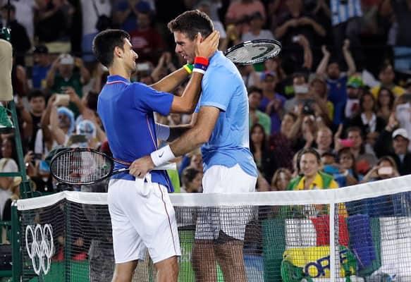 Novak Djokovic lost to Juan Martin del Potro in first round at Rio Olympics 2016