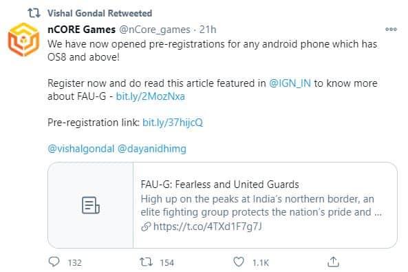 FAU-G Pre-registration live