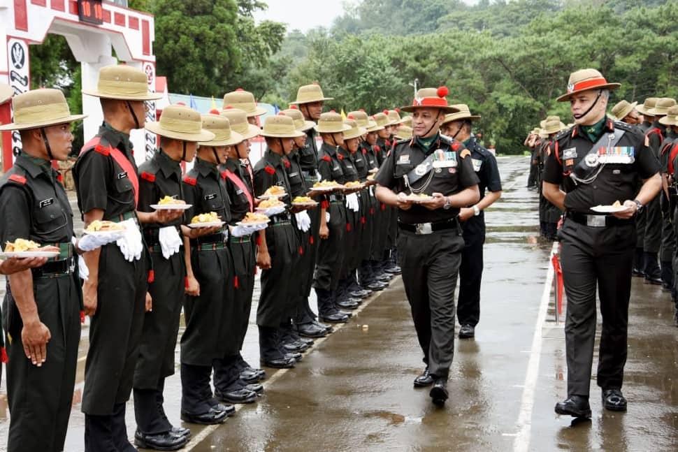Gorkha soldiers graduation celebration