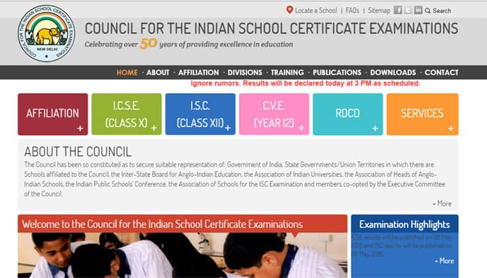 Candidates need to log into the official website of CISCE to get thier result