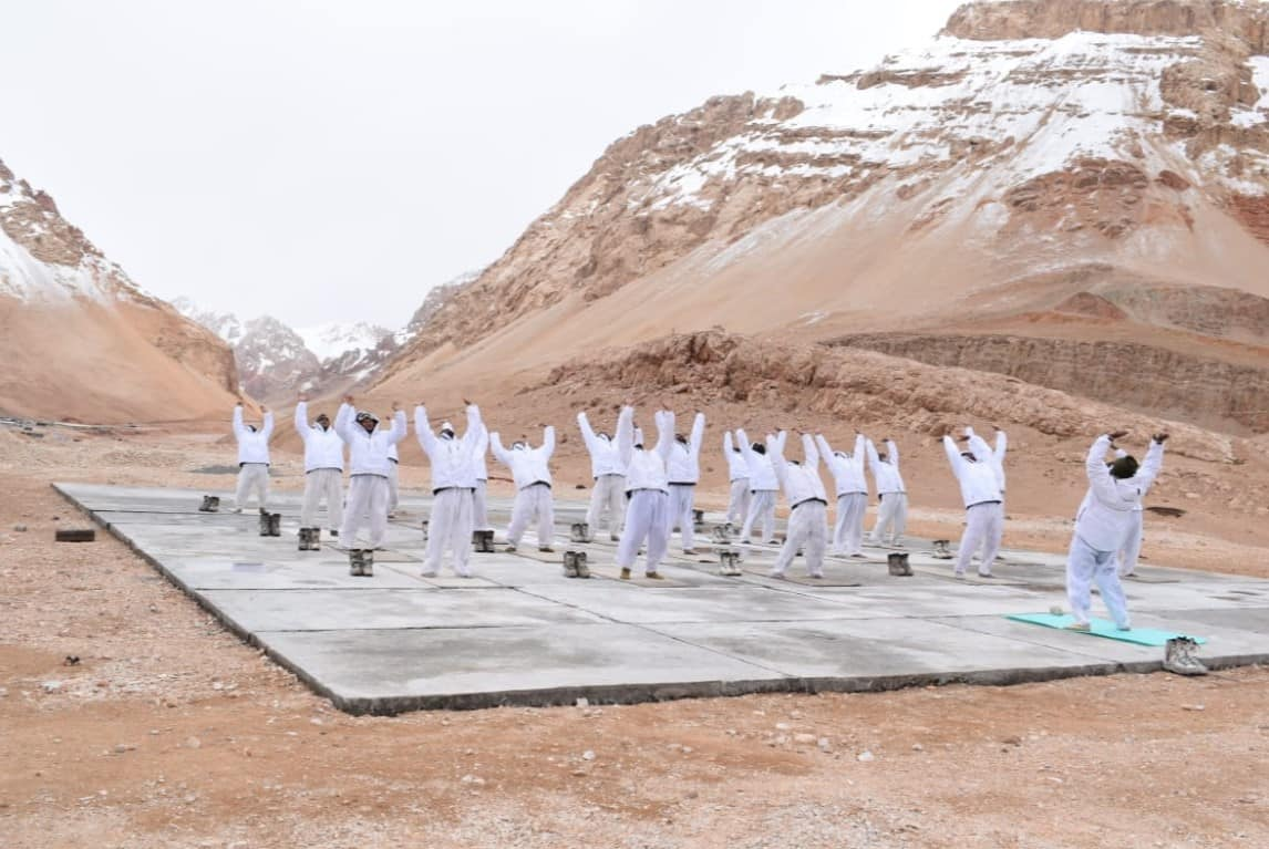 ITBP personnel perform Yoga on International Yoga Day 2021
