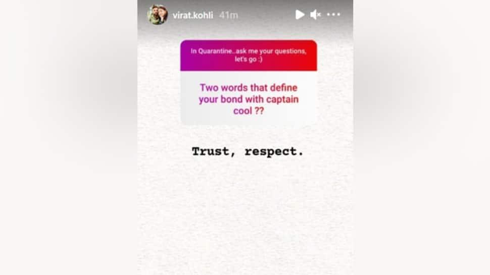 Screengrab of Virat Kohli's chat with Instagram fans. (Source: Instagram)