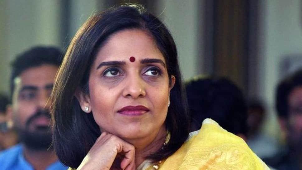 N. Srinivasan's daughter and TNCA president Rupa Gurunath. (Source: Twitter)
