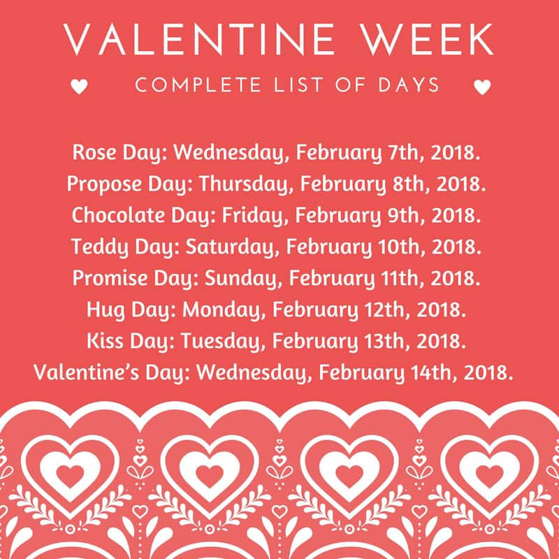 Calendar Rose Day : Valentine s week know when to celebrate rose day