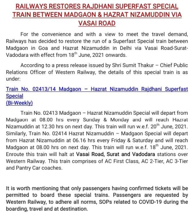 Western-Railway-to-resume-train-operations