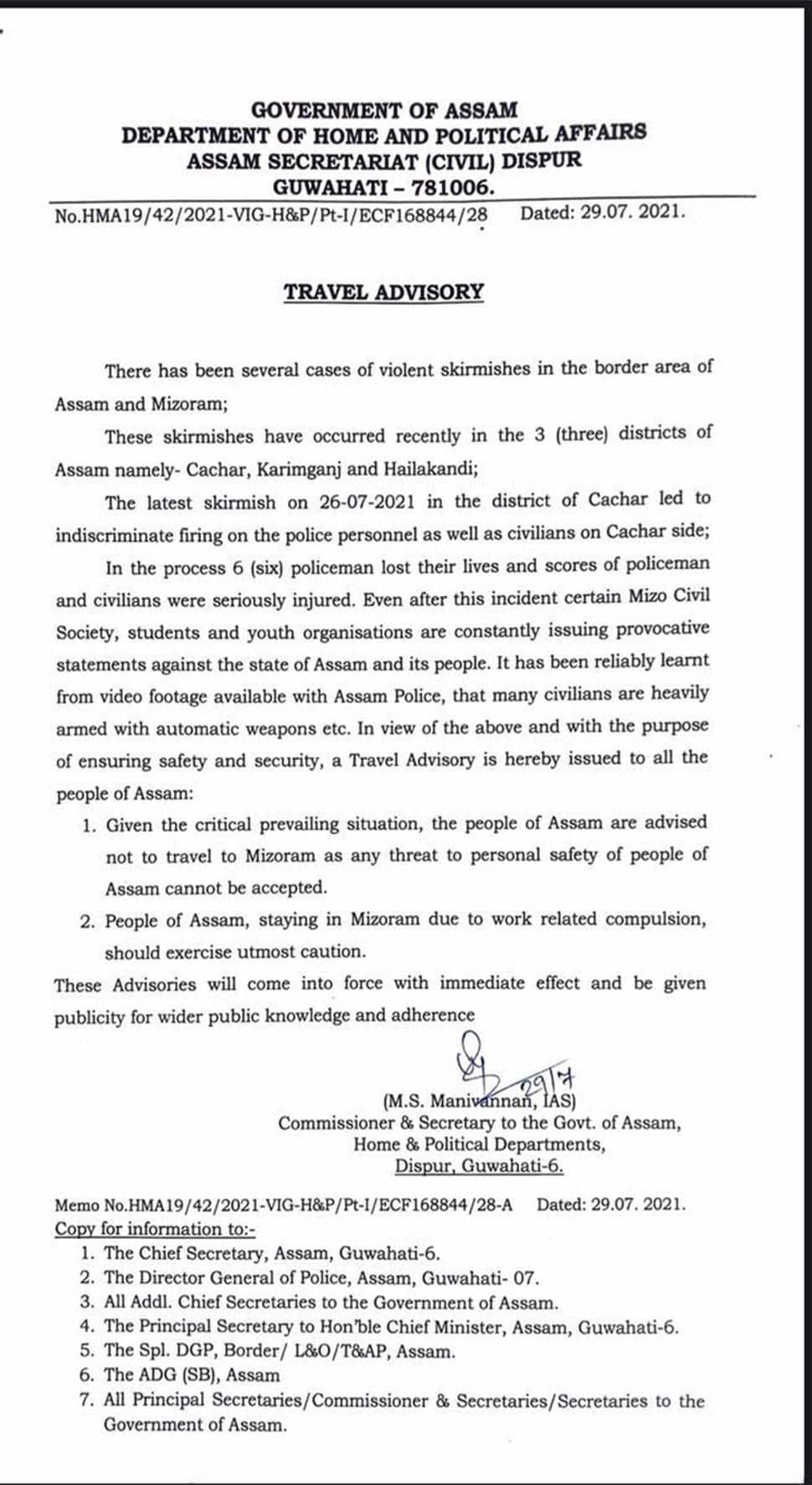 Assam-Mizoram border conflict, Assam, Mizoram,