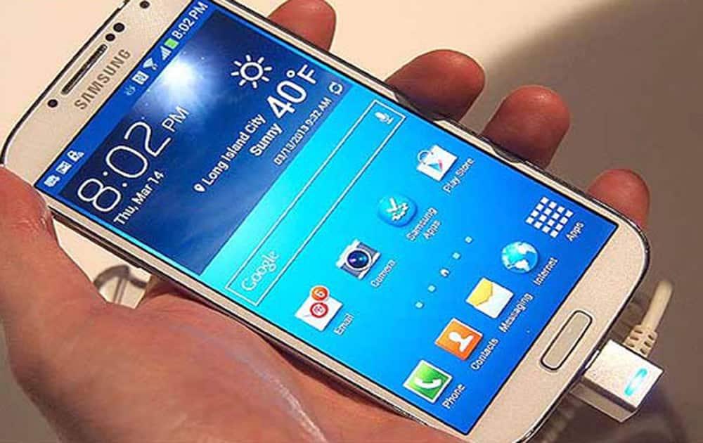 Samsung galaxy S4( Flipkart price-Rs 11,990)