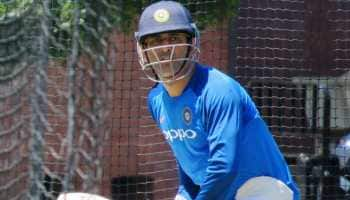 Watch: MS Dhoni in fine touch during net practice ahead of series decider against Australia