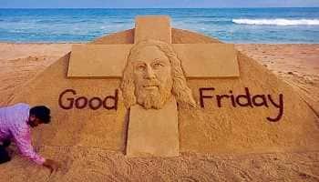 Good Friday 2019: Sudarsan Pattnaik pays sand art tribute to Jesus Christ