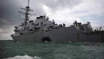 US warship sails in disputed South China Sea amid trade tensions