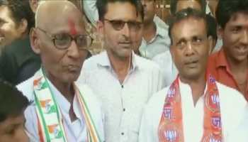 Congress worker shaves head after losing bet against BJP counterpart in MP
