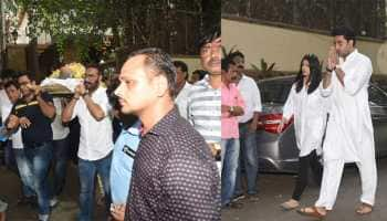 Veeru Devgan's funeral: Aishwarya, Abhishek Bachchan and others pay last respects - Pics