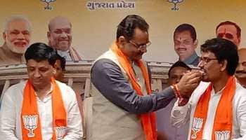 Former Gujarat Congress MLA Alpesh Thakor, aide Dhaval Sinh Zala join BJP